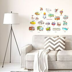 Cartoon Car Design Wall Sticker Removable For Living Room Bedroom Multicolor