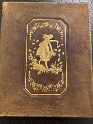 Color Floral Album 1841 Binding An Exquisite Gift Book Published In Ny By Riker