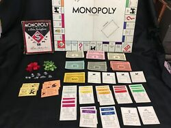 Vintage Monopoly Diamond Version W/ Gameboard And Pieces 1940