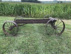 Wow 12-15hp Ihc International Antique Hit And Miss Gas Engine Cart Mogul Famous