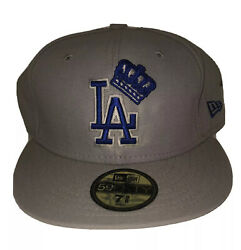 """Dodgers New Era 7 5/8 Fitted Hat, Banned, Rare, """"king Of Los Angeles"""", Mlb"""