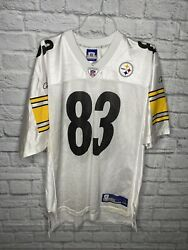 Pittsburgh Steelers Heath Miller Jersey Mens Large White Reebok Preowned Nfl
