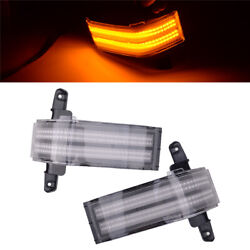 Dual-row Amber Led Strip Side Mirror Marker Lights Fit For Chevrolet Silverado