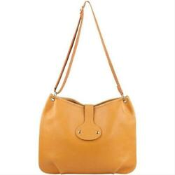 Hermes Tan Brown Ardennes Leather Rodeo Messenger Crossbody 861235