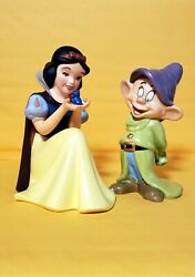 Walt Disney Collectors Society Members Only Snow White And Dopey Figurines +extras