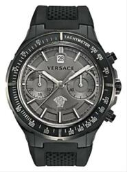 New Versace Dv One 26ccs7d455 S009 Menand039s Steel Pvd Chrono 45mm Automatic Watch
