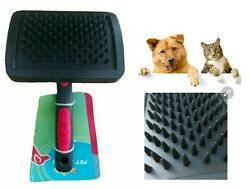 Small Pet Dog Cat Brush Grooming Self Cleaning Slicker Comb Fur Shedding Tool