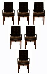Mid Century Modern Baughman Dillingham Set Of 6 Dining Armchairs 1970and039s