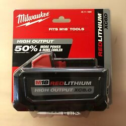 Milwaukee 48-11-1880 M18 High Output 8 Amp Battery New 2 Day Shipping