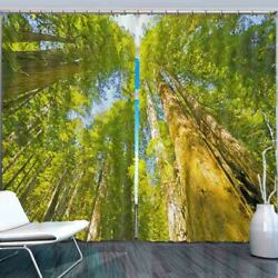 Blue Confused Clear 3d Curtain Blockout Photo Printing Curtains Drape Fabric