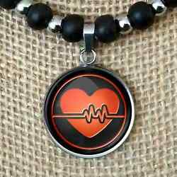 Nursing Rn Healthcare Cna Nurse Gift Pendant Leather Cord Necklace Menand039s Womenand039s