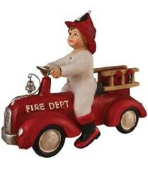 Bethany Lowe Ethan On Fire Truck Resin Christmas Ornament Nwt