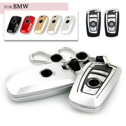 Glossy Abs Car Smart Key Fob Case Skin Cover For Bmw 3 4 5 Series 320i 530i 550i