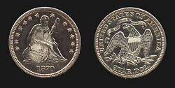 1870 Quarter Dollar Choice Uncirculated Rare In Business Strike Mint State