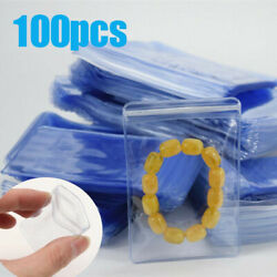 100Pcs Anti oxidation Resealable Plastic Bag Clear Zip Lock Jewelry Storage Pack $8.05
