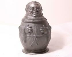 Antique German Pewter Character Beer Stein By Rackl And Eisenmann - Monk C.1910s