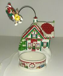 Mandmand039s Dept 56 Santa House Lighted House And Candy Dish Animated With Box