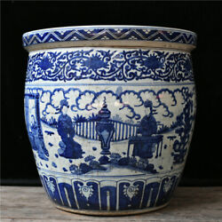 23and039and039 China Antique Pot Blue And White Porcelain Pot Old Pottery Cylinder