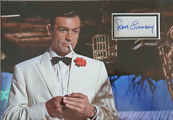 Sean Connery Signed 14x10 Photo Display James Bond Goldfinger And Dr No Coa