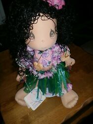 Rare Precious Moments Children Of The World Doll Collection Leilani Hawaii Girl