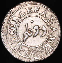 Nd 1808   British India Madras Presidency 2 Fanam   Silver   Coins   Km Coins