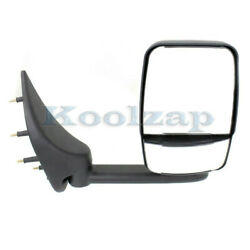 02-14 Econoline Van Towing Mirror Manual Folding Short Arm W/o Signal Right Side
