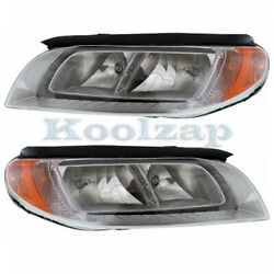 08-13 S80/xc70 And 08-10 V70 Front Headlight Headlamp Head Light Lamp Set Pair