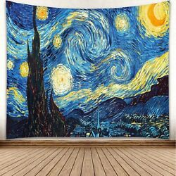 """""""Starry Night"""" Tapestry Queen Bed Width 60"""" x 51"""""""
