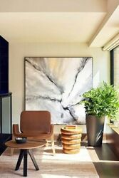 P E T R A 1.1 Xxl 59 X 59 Inch Abstract Art Painting Hand Painted Interior Decor