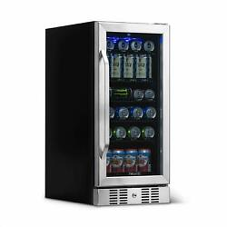 Newair Abr-960 96 Can Capacity Beverage Refrigerator Cooler Built In Compressor