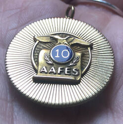 10k Carat Yellow Gold Army Air Force Aafes 10 Year Service Medal Stamped 7.23g