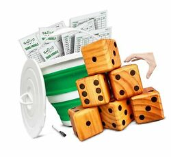 Swooc Games - Yardzee, Farkle And 20+ Games - Giant Yard Dice Set All Weather...