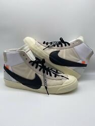 """The 10 Nike Blazer Mid """"off White"""" Og New With Box Aa3832-100 Size 14"""