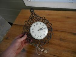 Vintage Ge General Electric Kitchen Wall Plastic Clock Model 2151 Good Cond