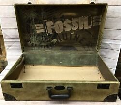 Vintage Rare Fossil Watch Store Display Advertising Suitcase Logo Hardshell Case