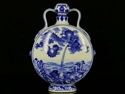 12and039and039 China Antique Vase Blue And White Porcelain Vase Old Pottery Bottle
