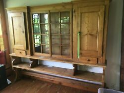 Antique English Cupboard Kitchen Or Dining Room Display