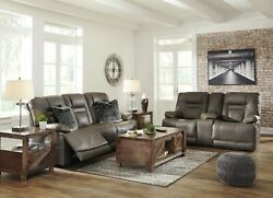 Ashley Furniture Wurstrow Power Reclining Sofa And Loveseat Living Room Set