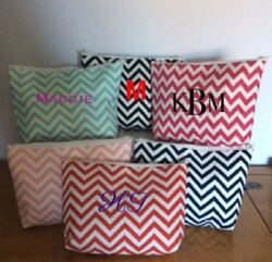 Personalized Chevron Cosmetic Bag ***FREE SHIPPING*** $9.00