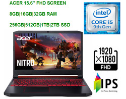 2020 Acer Nitro 5 15.6and039and039 Fhd Gaming Laptop Intel I5 Gtx 165032gb Ram And 1tb Ssd