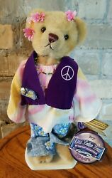 """Brass Button Bears """"ivy"""" 1960's 20th Century Collectibles W/ Stand Wt"""