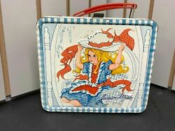 Vintage Junior Miss Lunchbox 1970and039s Metal No Thermos School Lunch Box 1973