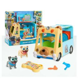 Disney Junior Puppy Dog Pals Awesome Care Bus 9 Pieces New Kids Toy Ages 3+