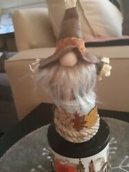 CANDLE Lid Magnet Topper 🍁 Fall Gnome Scarecrow for Bath amp; Body Works 3 wick