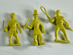 Lot 3 Marx Super Circus Playset Clown Cops Lion Tamer Sideshow Rubber Toy