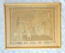 Judaica Solomon The King And Queen Of Sheba Printed Micrograph Frankfurt Am Ma