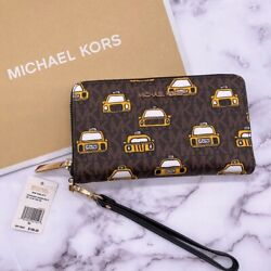 Michael Kors New York TAXI wallet Wristlet Phone case Rare NWT $65.00