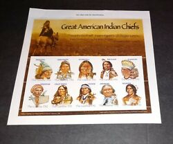 Gambia - 2005 - Great American Indian Chiefs - Sheet Of 10 Stamps