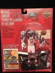 Jordan 98/99 Upper Deck Stand Up Figure With Ud Choice Cards
