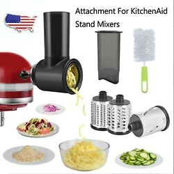 Prep Slicer And Shredder Attachment Processor For Kitchenaid Stand Mixer Food Home
